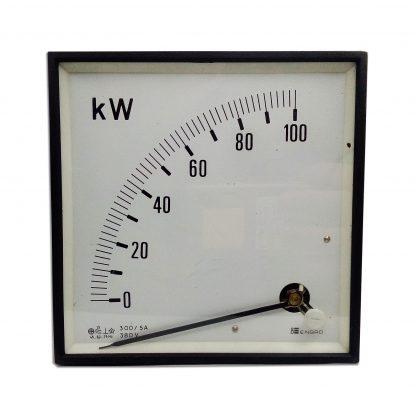 Wattímetro analógico 0 - 100 Kw